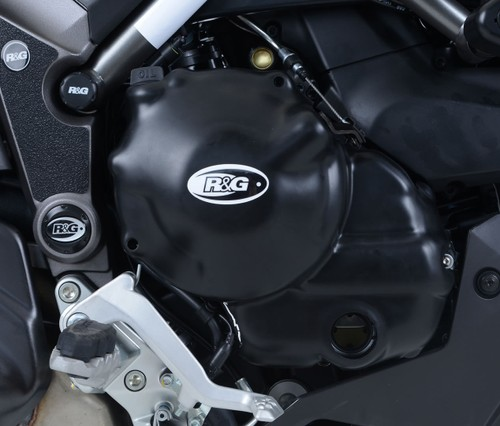 2012 R/&G RACING BLACK LHS ENGINE CASE SLIDER Ducati 848 Streetfighter