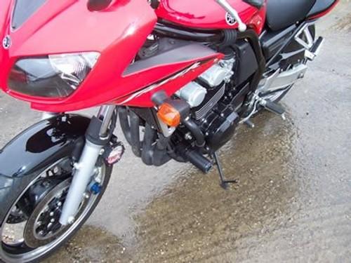GB FZS 600 Reg Number Plate Leather Keyring for Yamaha FZS600 Fazer NOS